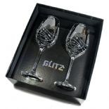 Dartington 'Glitz' Wine Glasses, PERSONALISED ref DGWP